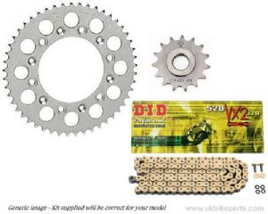 Steel Sprockets and Gold DID X-Ring Chain - Yamaha R6 (2006-2016)